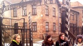 Welsh sixth-formers on visit to Auschwitz