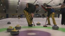 Curlers on the ice