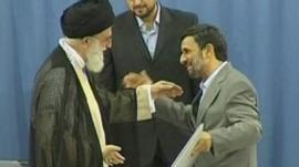 Supreme Leader Ayatollah Ali Khamenei and President Mahmoud Ahmedinejad