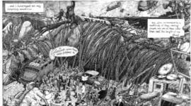 Martin Rowson's Gulliver's Travels cartoon