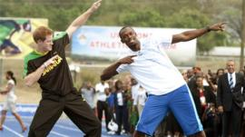 Prince Harry and Usain Bolt