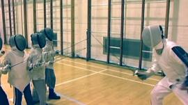 The BBC's Mike Bushell tries his hand at fencing