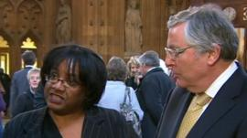 Diane Abbott and Lord Clement-Jones