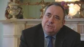Alex Salmond responds to School Reporters questions