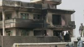 House damaged by military plane in Afghanistan
