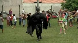 Man dressed as Batman