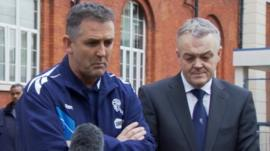 Bolton manager Gary Coyle and chairman Phil Gartside