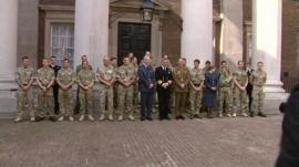 Some of the servicemen and women honoured