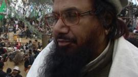 Hafiz Mohammad Saeed speaking to the BBC in January 2012