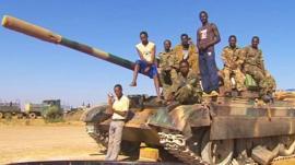 A tank in Somalia