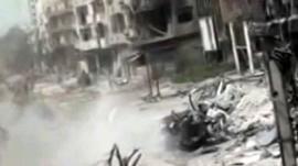Damage and debris in Syria