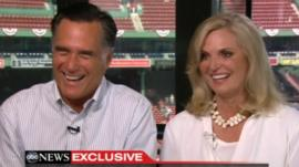 Mitt Romney and Ann Romney speak to Diane Sawyer of ABC News