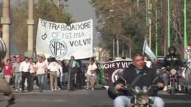 Argentinian protest supporting decision