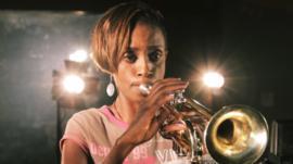 Kenyan afro-jazz trumpeter Christine Kamau