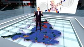 The BBC's Jeremy Vine on set