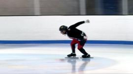 Speed skater Kevin Frost