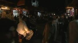 Street in Islamabad plunged into near-darkness by power cut
