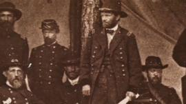 General Grant with soldiers