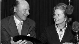 Roy Plomley and Margaret Thatcher