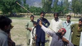 An archer at a competition in Khyber Pukhtunkhwa