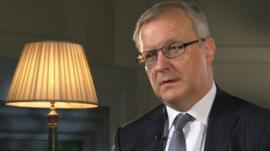EU Economic Commissioner Olli Rehn