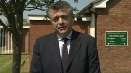 BBC's Phil Mackie at the coroner's court in Cannock