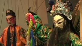 Puppets on display in China
