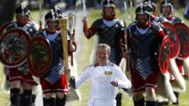 Olympic torch on Shetland