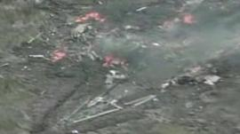 Drone crash site