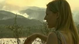 Residents watch fire spread close to their homes in Colorado