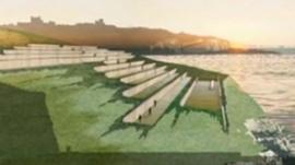 Artist's impression of Dover war memorial