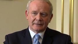 Northern Ireland's deputy first minister Martin McGuinness