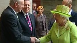 The Queen and Martin McGuinness shake hands