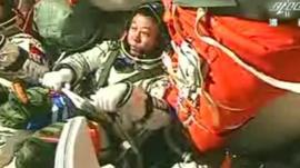 Astronaut on Shenzhou-9 spacecraft