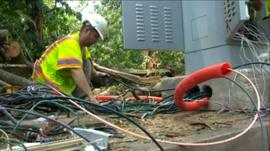 Man tries to restore power supply