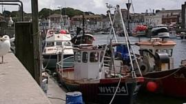 Fishing boats in Weymouth Harbour