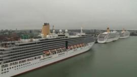 P&O cruise ships docked in Southampton