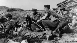 Argyll and Sutherland Highlanders soldiers in Korea