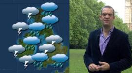 Giles Dilnot and weather map