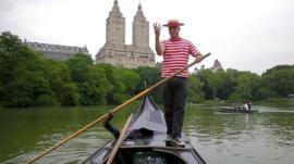 Andres Garcia Pena on a gondola