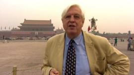 John Simpson in Tiananmen Square