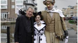 Terry Jones, Claire Wild and Peter Willcock