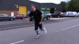 Stuart Hughes running