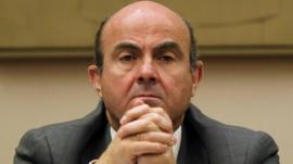 Luis de Guindos, economy minister