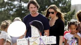 Christian Bale and his wife Sibi Blazic