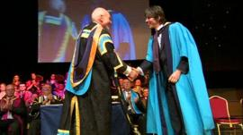 Sir Patrick Stewart and Professor Brian Cox