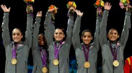 USA win gymnastics team gold at London 2012