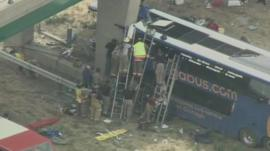 Megabus crash in Illinois