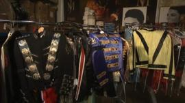 Some of Michael Jacksons's costumes