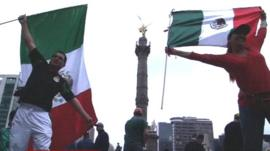 Mexican football fans
